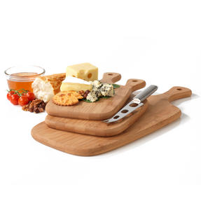 Salter BW06732 Bamboo Paddle Chopping Board Set Thumbnail 2