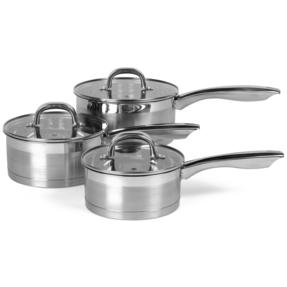 Salter BW06734 Timeless Collection Stainless Steel 3 Piece Saucepan Set Thumbnail 2