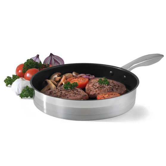 Salter Timeless Collection Stainless Steel Frying Pan, 28 cm