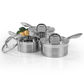SalterTimeless Collection Stainless Steel Saucepan, 18 cm Thumbnail 6
