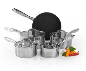 Salter Timeless Collection Stainless Steel 5 Piece Pan Set Thumbnail 1