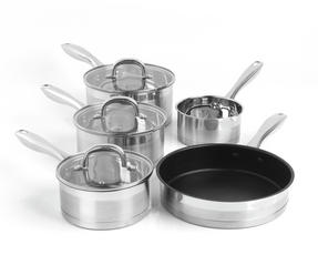 Salter Timeless Collection Stainless Steel 5 Piece Pan Set Thumbnail 5