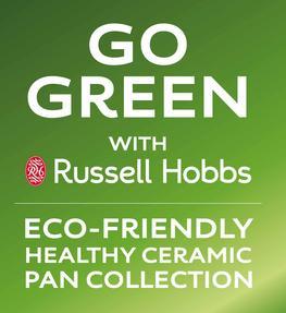 Russell Hobbs RH00093G 3 Piece Ceramic Saucepan Set, 16/18/20 cm, Grey Thumbnail 11