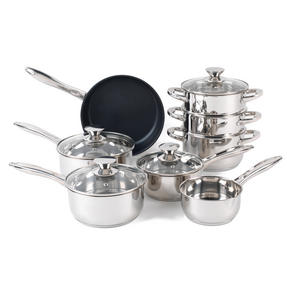 Russell Hobbs RH00166 Classic Collection Stainless Steel 8 Piece Pan Set Thumbnail 1