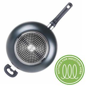 Russell Hobbs RH00089G Non-Stick Ceramic Wok, 28 cm, Grey Thumbnail 4