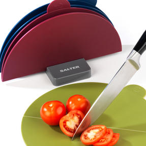 Salter Foldable Colour Coordinated Chopping Boards, Set of 3 Thumbnail 5