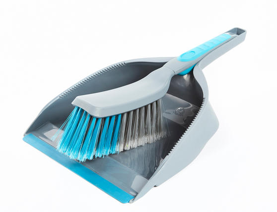 Beldray Kitchen Dustpan and Brush, Grey / Blue