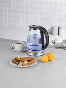 Salter EK2841SS Colour Changing Glass Kettle with LED Illumination, 1.7 Litre, 2200W Thumbnail 7