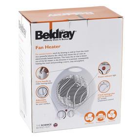 Beldray EH0567 Fan Heater and Cooler, 1000 W/2000 W Thumbnail 2