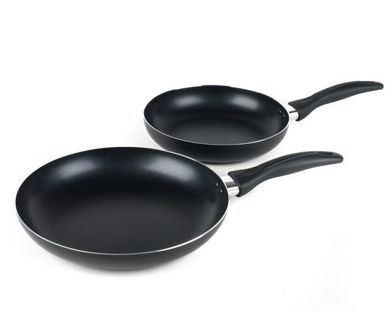 Salter BW06561AS Non-Stick Frying Pan Set, 24/28 cm, Black