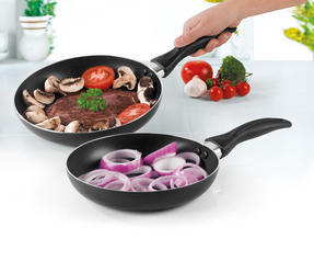 Salter BW06561AS Non-Stick Frying Pan Set, 24/28 cm, Black Thumbnail 2