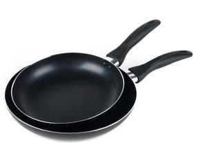 Salter BW06561AS Non-Stick Frying Pan Set, 24/28 cm, Black Thumbnail 4