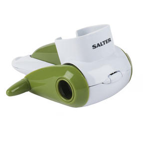 Salter Rotary Cheese Grater and Food Press Chopper Set, White / Green Thumbnail 2