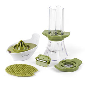 Salter Food Slicer and 4 in 1 Food Prep Set with Juicer, Grater, Herb Stripper and Egg Separator
