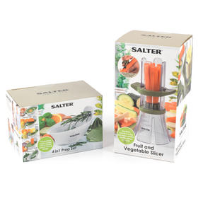 Salter Food Slicer and 4 in 1 Food Prep Set with Juicer, Grater, Herb Stripper and Egg Separator Thumbnail 9