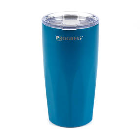 Progress BW05855 Thermal Insulated Travel Cup Tumbler with Lid, Set of 2, 550 ml, Blue & Grey Thumbnail 7