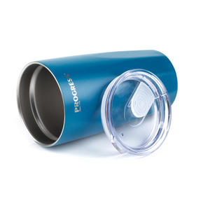 Progress BW05855 Thermal Insulated Travel Cup Tumbler with Lid, Set of 2, 550 ml, Blue & Grey Thumbnail 4