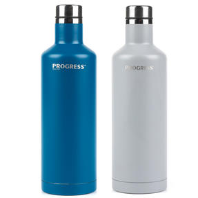 Progress BW05856 Thermal Insulated Travel Bottle with Screw Top Lid, Set of 2, 500 ml, Blue & Grey Thumbnail 2