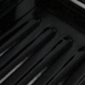 Russell Hobbs COMBO-2132 Romano Vitreous Enamel Deep Roaster and Baking Tray Set, 42/40 cm, Black Thumbnail 1