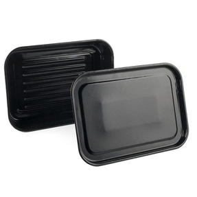 Russell Hobbs Romano Vitreous Enamel Deep Roaster and Baking Tray Set, 42 cm / 40 cm, Black Thumbnail 1