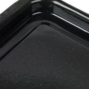 Russell Hobbs COMBO-2132 Romano Vitreous Enamel Deep Roaster and Baking Tray Set, 42/40 cm, Black Thumbnail 2