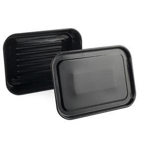 Russell Hobbs COMBO-2132 Romano Vitreous Enamel Deep Roaster and Baking Tray Set, 42/40 cm, Black Thumbnail 3