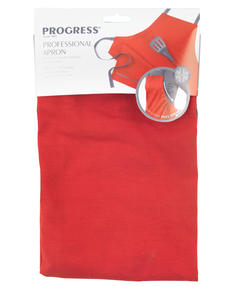 Progress Manhattan Performance Oven Glove and Tea Towel Set with Professional Apron, Red Thumbnail 4