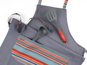 Progress New England Oven Glove, Tea Towel and Apron Set with Professional Neoprene Oven Gauntlet Thumbnail 5