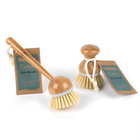 Beldray Bamboo Dish and Kitchen Cleaning Brush Set, 22 cm / 10 cm, Brown Thumbnail 6