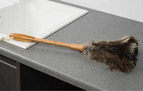 Beldray Bamboo Chenille Duster, Ostrich Feather Duster and Window Squeegee Set, 3 Piece Thumbnail 4