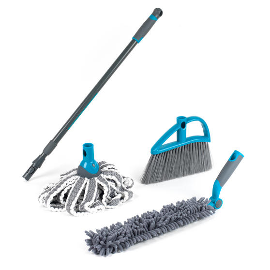 Beldray Mix and Match Click and Connect Cleaning Set with Mop, Duster and Broom Heads