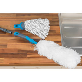 Beldray Mix and Match Click and Connect Cleaning Set with Microfiber Mop and Duster Heads Thumbnail 3