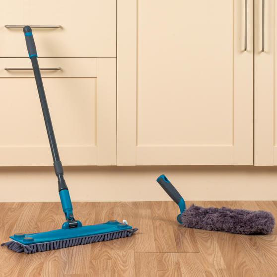 Beldray Mix and Match Click and Connect Cleaning Set with Microfiber Mop and Duster Heads Thumbnail 2