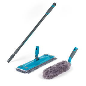Beldray Mix and Match Click and Connect Cleaning Set with Microfiber Mop and Duster Heads
