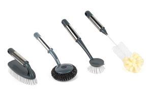 Beldray COMBO-2142 Kitchen Dish Brush with Scraper, Scrubbing Brush, Bottle Brush and Steel Brush Set, 4 Piece Thumbnail 1
