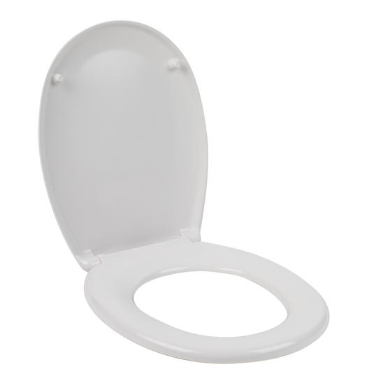 Beldray Duroplast Easy Fit Soft Close Toilet Seat, White Thumbnail 2