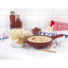 American Originals EK2349AR 2-in-1 Popcorn and Crepe Maker, Red Thumbnail 2