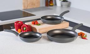 Domo 1406502 Cucina Italiana Deep Non-Stick Frying Pan, 24 cm, Black Thumbnail 5