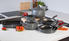 Domo 1406508 Cucina Italiana Non-Stick Deep Stirfry Pan, 28 cm, Black Thumbnail 5