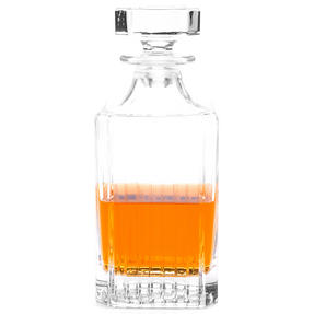 RCR 51521020006 Crystal Glassware Timeless Square Whisky / Wine Decanter, 75 CL / 750 ML