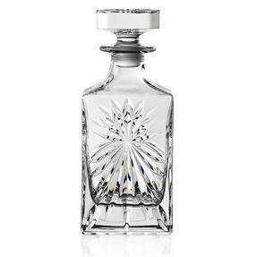 RCR 51530020006 Crystal Glassware Oasis Square Whisky / Wine Decanter, 85 CL / 850 ML