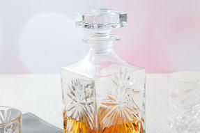 RCR 51530020006 Crystal Glassware Oasis Square Whisky / Wine Decanter, 85 CL / 850 ML Thumbnail 3
