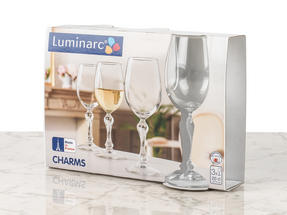 Luminarc L0707 Charms 20 cl Wine Glasses, Pack of 3 Thumbnail 3