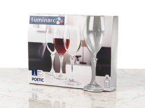 Luminarc L0927 Poetic 35 cl Wine Glasses, Pack of 3 Thumbnail 3