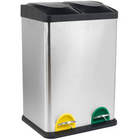 Russell Hobbs RH00140 Kitchen Recycle Waste Separation Bin, 2 Sections, 40 Litre, Stainless Steel Thumbnail 7