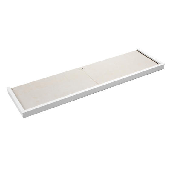 Beldray Satin White Hearth Tray, 137l x 38w cm