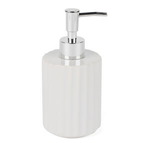 Beldray Ceramic Dolomite Set with Toothbrush Holder, Hand Soap Dispenser and Soap Dish, White Thumbnail 7
