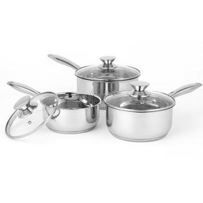 Russell Hobbs Classic Collection 4 Piece Pan Set and 24 CM Casserole Pan, Stainless Steel Thumbnail 4