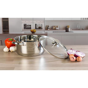 Russell Hobbs Classic Collection 4 Piece Pan Set and 24 CM Casserole Pan, Stainless Steel Thumbnail 5
