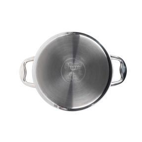 Russell Hobbs Classic Collection 4 Piece Pan Set and 24 CM Casserole Pan, Stainless Steel Thumbnail 7